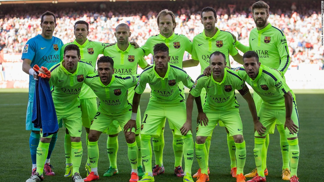 Barcelona players knew a win would secure the La Liga title.
