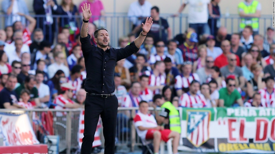 Atletico boss Diego Simeone also saw his side come close in the first half through a Jose Giminez header.