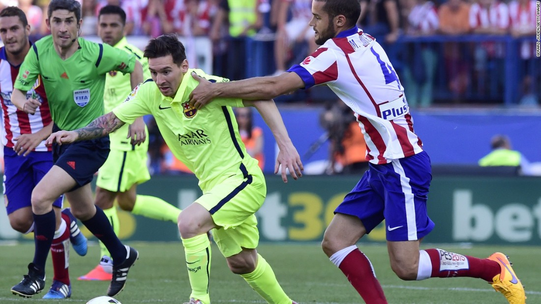 Barcelona and Atletico Madrid faced off at the Vicente Calderon Sunday.