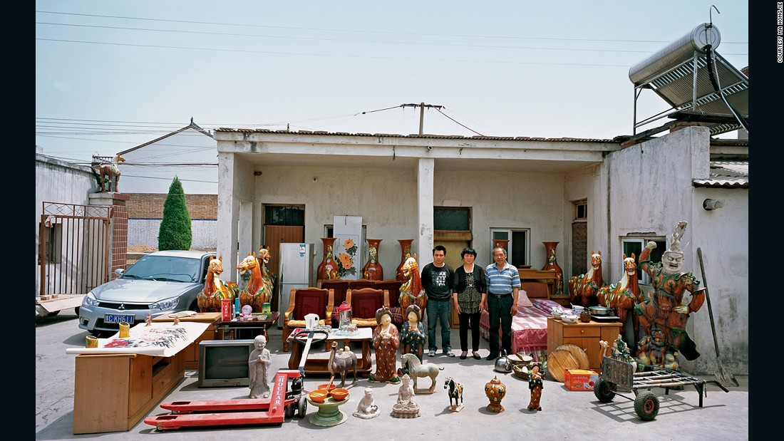 Zhang Youcai's family lives in Nanshishan village, Henan province, where the art of Tang tricolor pottery originated. They are the only family able to make ceramic horses up to 1.7 meters in height. In a year, they can produce more than 400 of these horses, for a yearly income of about 100,000 yuan ($16,083).