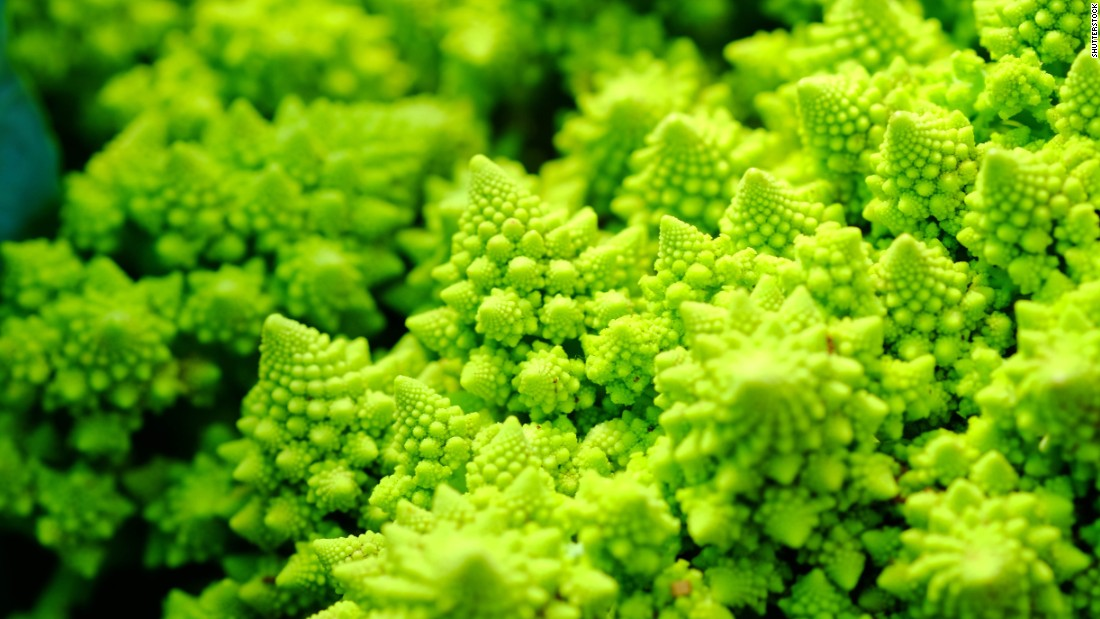 "A cross between broccoli and cauliflower, this crazy ""moonscape"" veggie is lighter and sweeter than both of its parents. Fat-, cholesterol- and sodium-free, broccoflowers are an excellent <a href=""http://www.fruitsandveggiesmorematters.org/broccoflower"" target=""_blank"">source</a> of vitamin C, and the unusual chartreuse color adds a visual punch to many dishes."