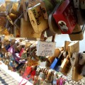 Defining moments - padlocked bridge