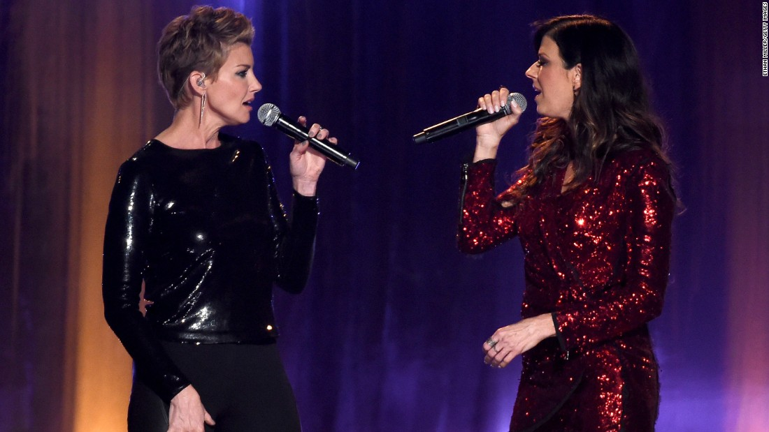 Faith Hill, left, and Karen Fairchild of Little Big Town
