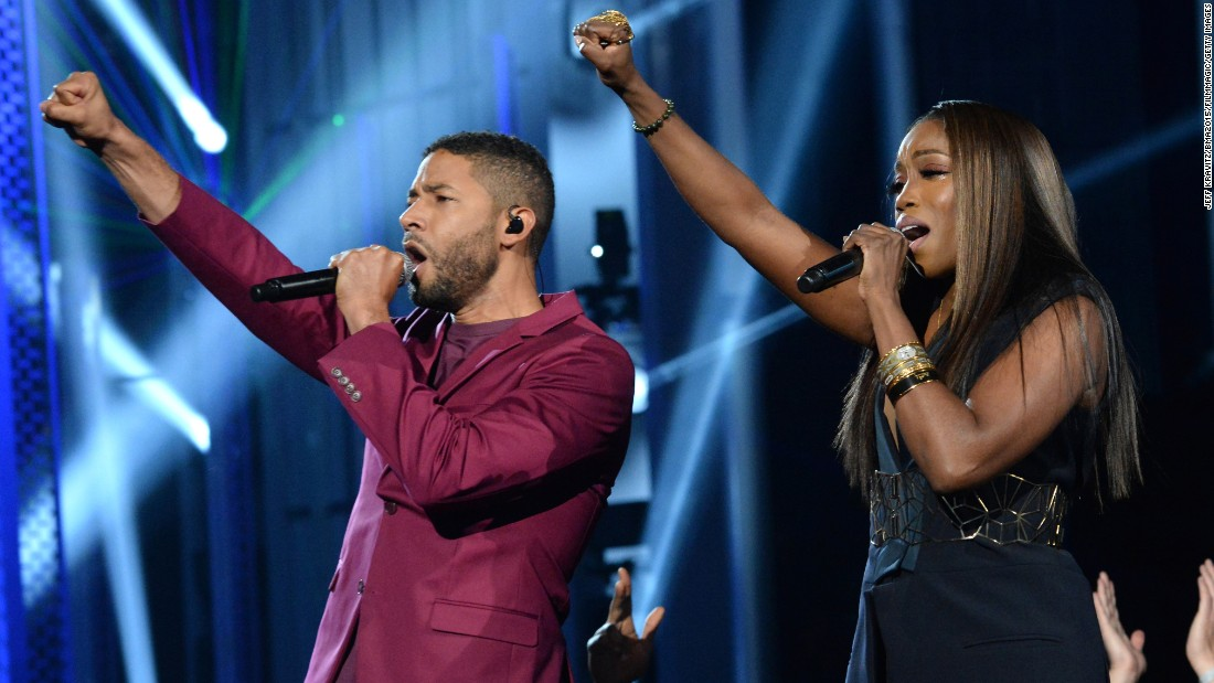 Jussie Smollett and Estelle