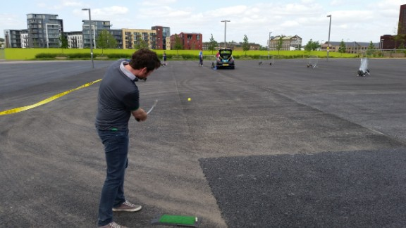 Every year since 2013, the European Urban Golf Cup sees players pitch and putt their way across a bizarre set of obstacles in city locations.