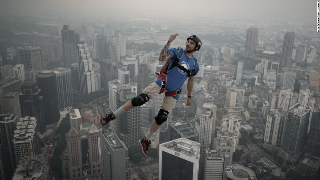 BASE jumpers use some of the most iconic buildings in the world for their leaps, as well as more natural points of flight such as cliffs and mountains.