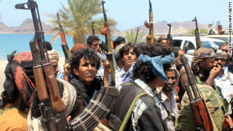 Supporters of Yemen's Southern Separatist Movement gather in the port city of Aden on May 17, 2015.