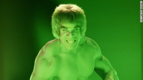 MARCH 1:THE INCREDIBLE HULK cast member Lou Ferrigno as the 'Hulk'. The television program originally aired on CBS from March 1978 to June 1982.