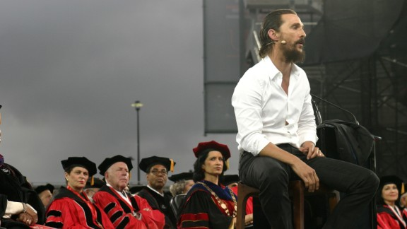 Actor Matthew McConaughey was the speaker at the University of Houston's commencement ceremony on May 15. The university was initially reluctant to release what McConaughey would be paid for the appearance, The Houston Chronicle reported, but eventually shared the details: $135,000, plus travel fees and commission for his agency. McConaughey is expected to give the money to his jk livin Foundation.