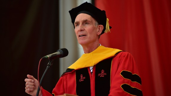 """Science Guy"" Bill Nye accepted an honorary doctorate degree and spoke to graduates of Rutgers University on May 17."