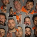 texas biker mugshots collage