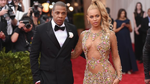 Jay Z and Beyoncé arrive at the Met Gala in New York in May 2015.