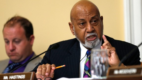 Rep. Alcee Hastings speaks during a debate at a committee meeting in July 2014 at the US Capitol in Washington, DC. (Photo by Win McNamee/Getty Images)