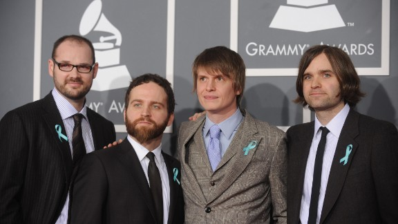 """American band Death Cab for Cutie showed up at the 2009 Grammy Awards wearing blue ribbons, which turned out to signal their desire to """"raise awareness about autotune abuse."""""""