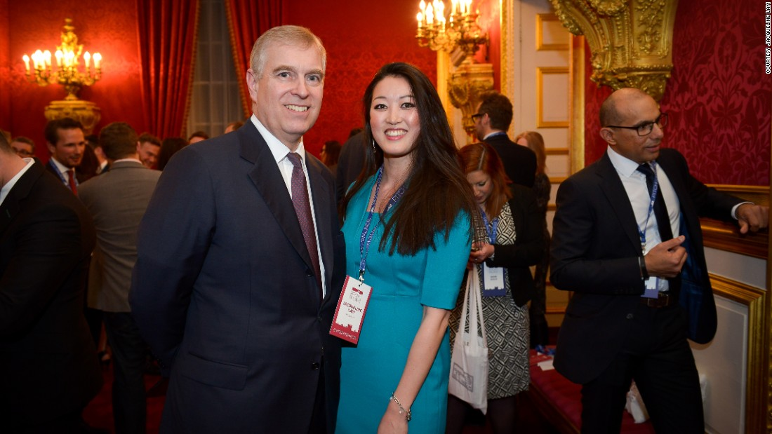 Founder Jacqueline Lam took part in the Pitch@Palace boot camp for tech entrepreneurs, hosted by the Duke of York (pictured above), where she won high praise.