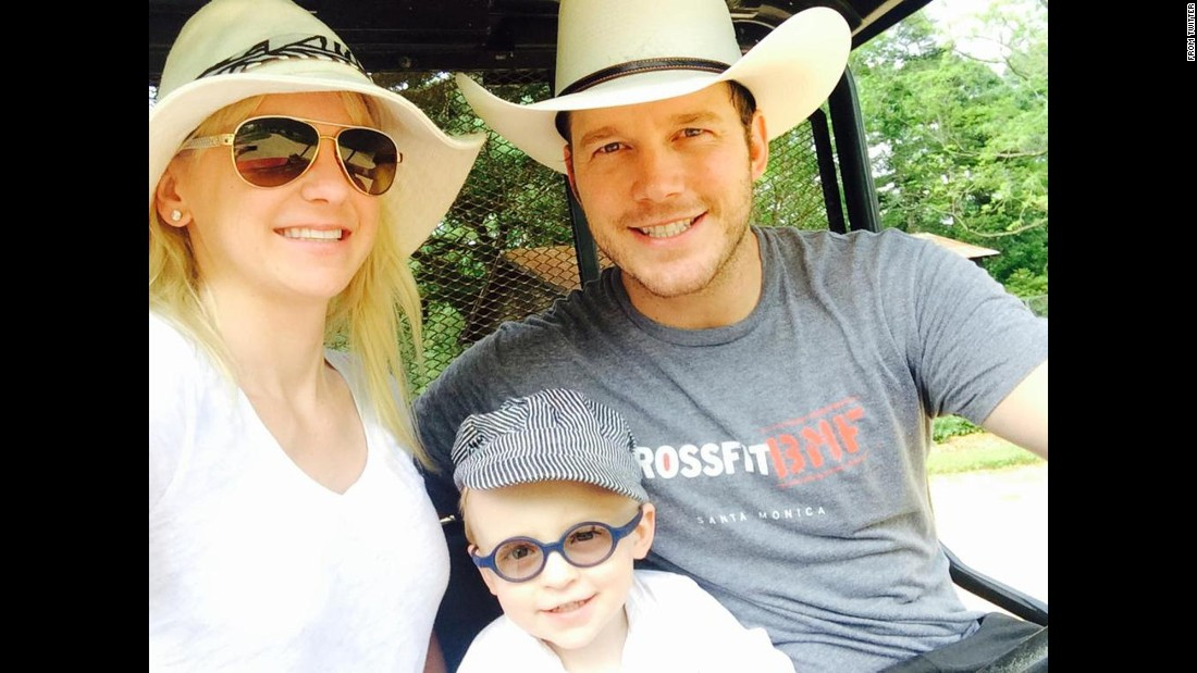 "Actress Anna Faris <a href=""https://twitter.com/AnnaKFaris/status/598200022073651200"" target=""_blank"">tweeted this ""felfie""</a> -- or family selfie -- of her with her husband, Chris Pratt, and their son, Jack, on Tuesday, May 12. ""You can tell by our faces that I've been trying to take this felfie for a while,"" said Faris, who added the hashtag ""#hatwearinfamily."""