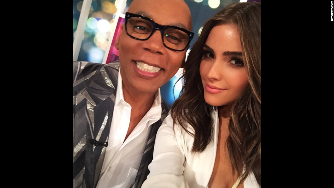 "Actress Olivia Culpo takes a selfie with television personality RuPaul on Wednesday, May 13. ""Thanks for having me on your new show #GoodWork,"" <a href=""https://instagram.com/p/2oskyiyyTd/"" target=""_blank"">Culpo told RuPaul on Instagram.</a> ""You're hilarious!!!!!"""