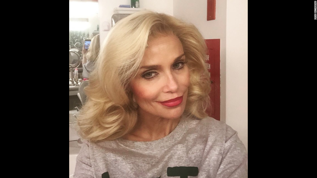 "Actress Kristin Chenoweth smiles for a selfie Sunday, May 17, as she sits backstage at the Broadway show ""On the 20th Century."" ""Matinee days make me happy,"" <a href=""https://instagram.com/p/21KgvQO9b0/"" target=""_blank"">Chenoweth said on Instagram.</a>"