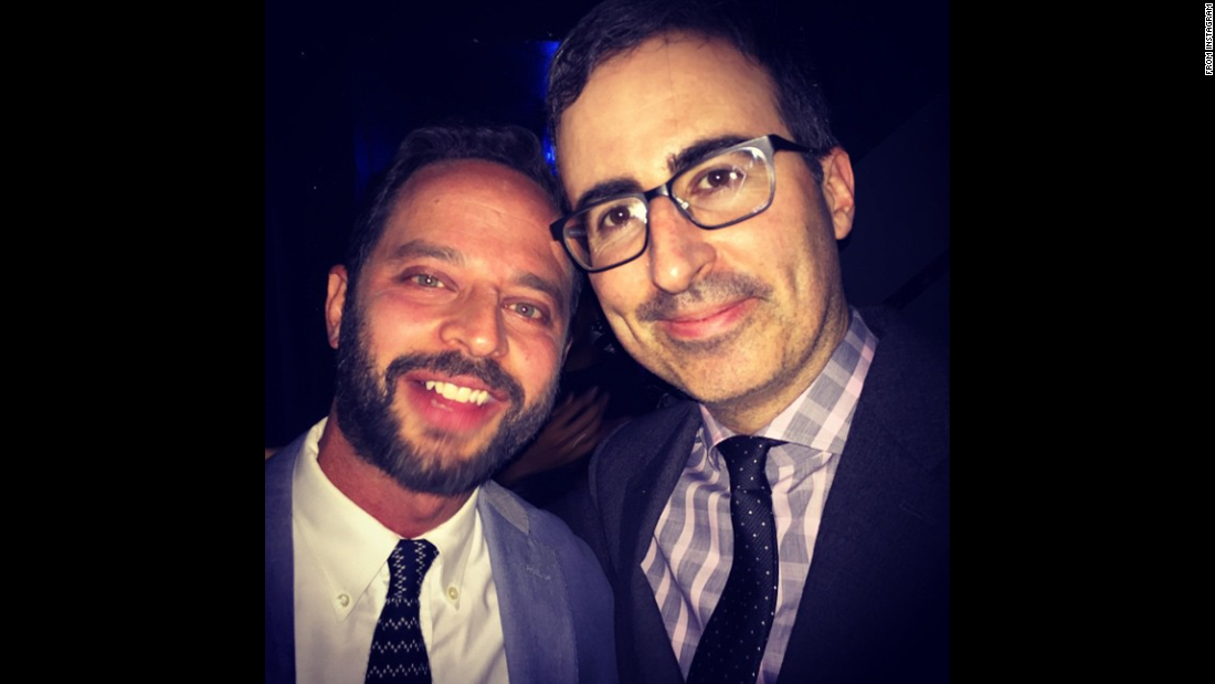 "Actor Nick Kroll, left, posted this selfie of him and comedian John Oliver as they attended a comedy event in New York for the Leukemia and Lymphoma Society. ""Amazing event to raise money for blood cancer research and prevention,"" <a href=""https://instagram.com/p/23OpcouUpQ/"" target=""_blank"">Kroll wrote on Instagram</a> on Tuesday, May 19. ""I'm saying something to (Oliver) and he is rightfully just trying to get thru the awkwardness of getting this pic done."""