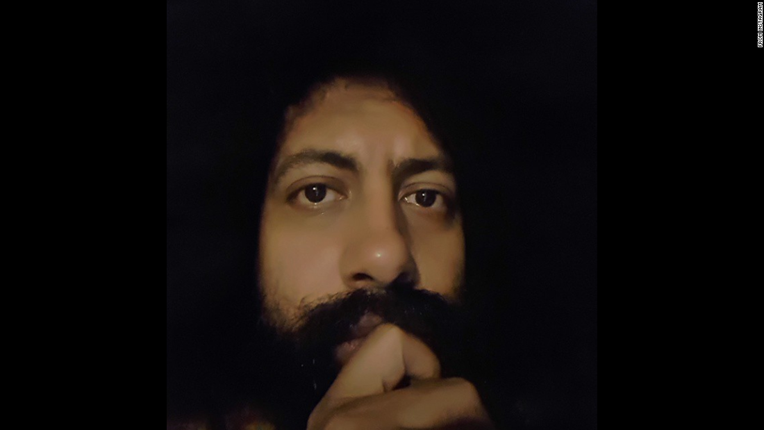 "Comedian Reggie Watts looks dead serious in this uncaptioned selfie <a href=""https://instagram.com/p/2umQlSKFSY/"" target=""_blank"">he posted to Instagram</a> on Friday, May 15."