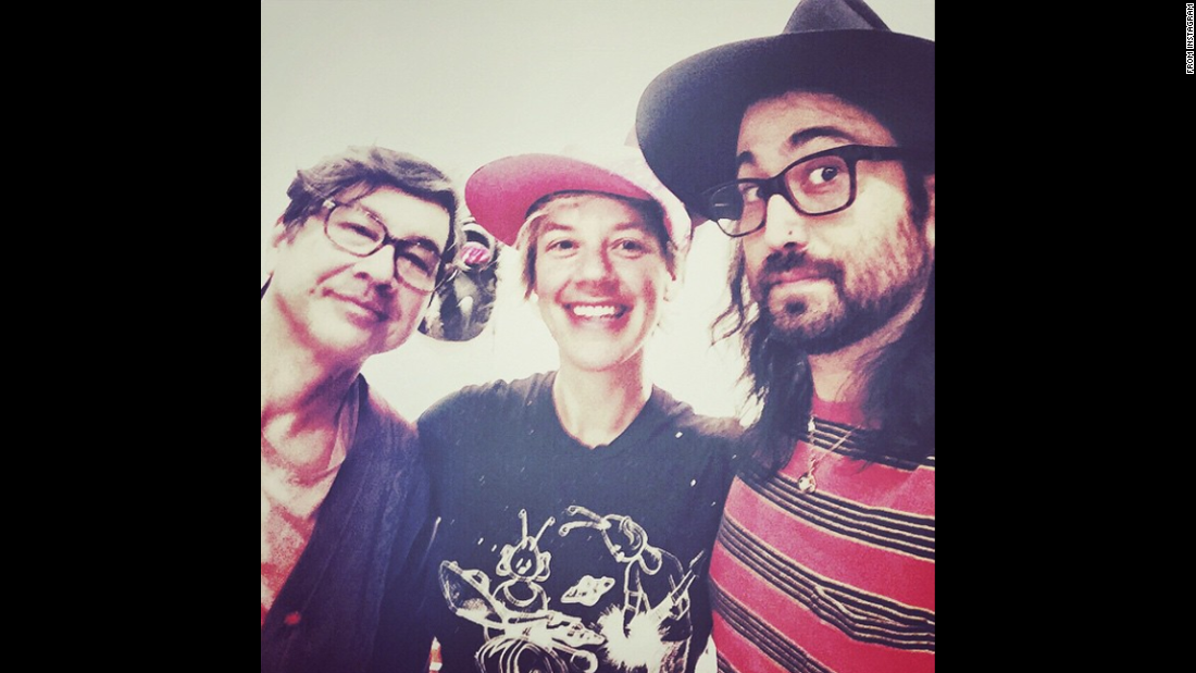 "Musician Sean Ono Lennon, right, <a href=""https://instagram.com/p/2omQnEFEst/"" target=""_blank"">said he was ""back in NYC w some serious music cats""</a> -- Money Mark, left, and Merrill Garbus on Wednesday, May 13. <a href=""http://www.cnn.com/2015/05/13/living/gallery/selfies-look-at-me-0513/index.html"" target=""_blank"">See 24 selfies from last week</a>"