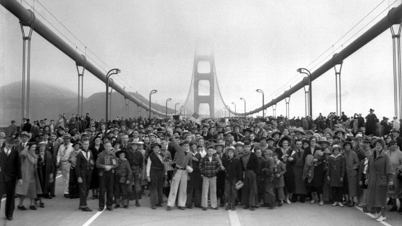 The Golden Gate Bridge, which spans the San Francisco Bay and connects the city to its northern suburbs, is one of the world