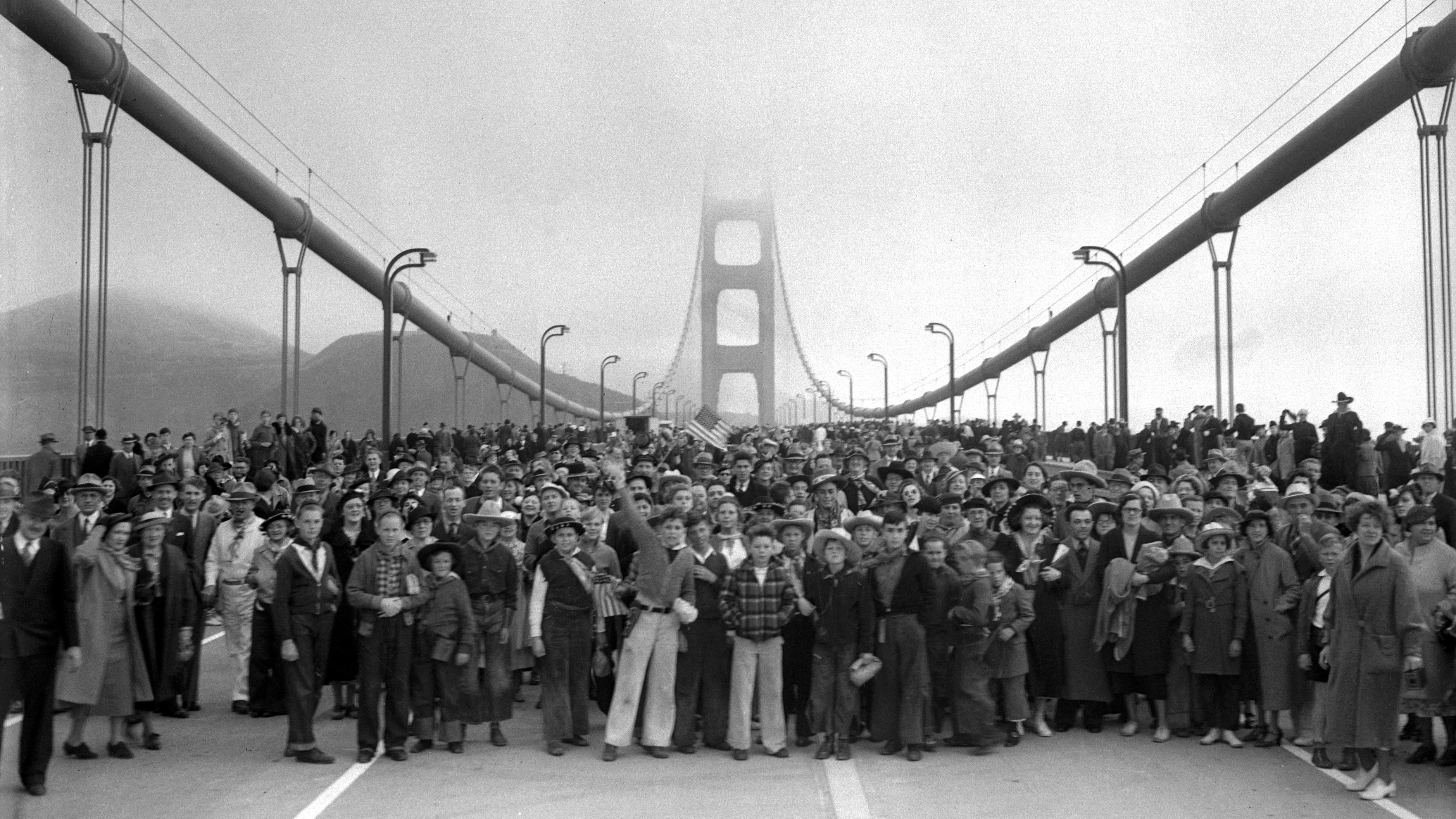 Image result for Opening of the Golden Gate Bridge