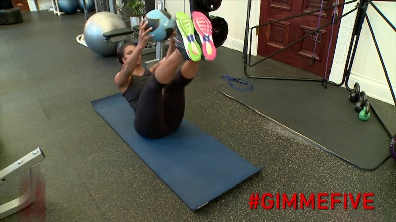 Michelle Obama shows off her fitness routine