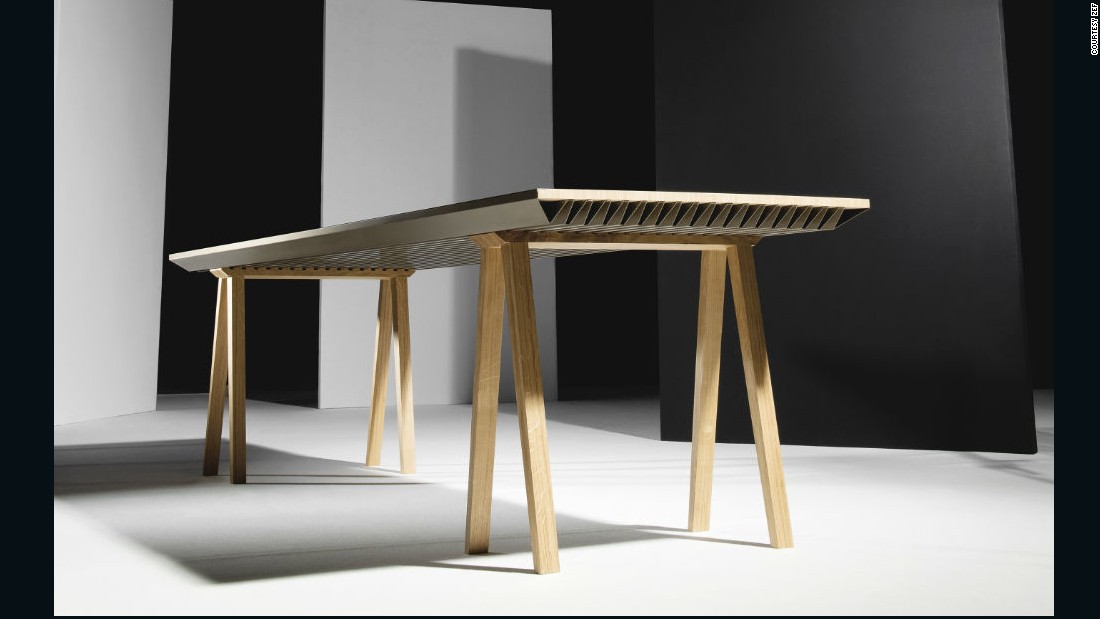 The Zero Energy Table is designed to soak up any heat above 71 degrees Fahrenheit (22˚ Celsius) and release it back into the room when the temperature dips below 71 degrees.