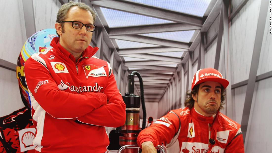 Stefano Domenicali had previously been team principal from 2008-14, but could not build on the constructors' title won in his first season in charge. He brought Alonso (right) to Maranello in 2010 but the Spanish driver could not add to his two world championships before deciding to join McLaren in 2015.