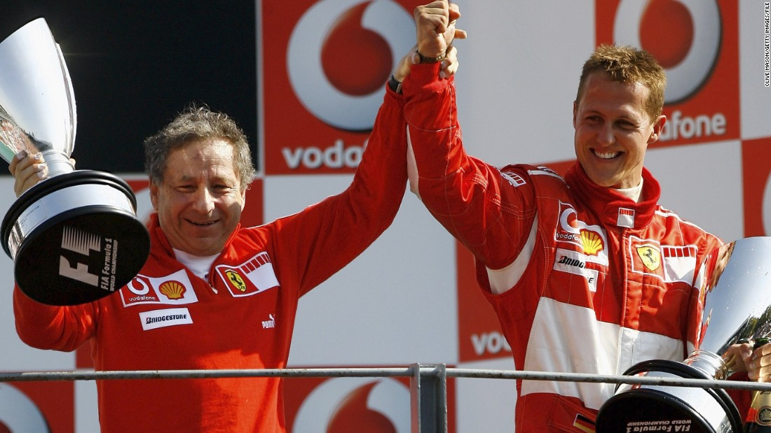 Jean Todt restored Ferrari's fortunes during his 13-year reign, signing Michael Schumacher in 1996. The German would win five successive drivers' titles from the start of the new millennium.