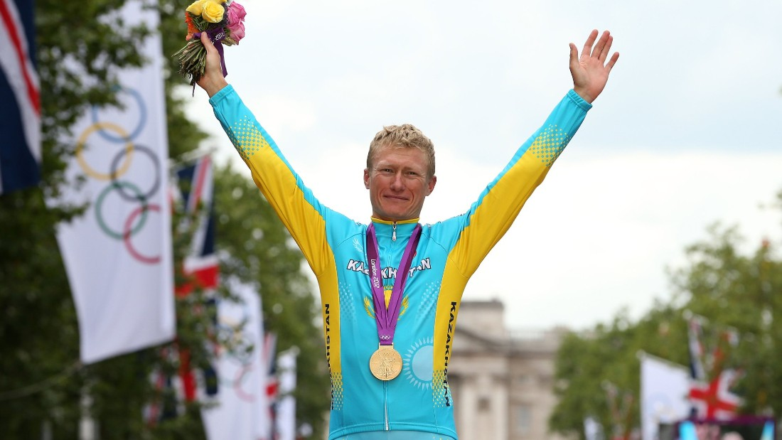 Astana's general manager Alexandre Vinokourov won a gold medal for Kazakhstan at the London 2012 Olympic Games. He tested positive for banned substances in 2007 and nearly quit cycling for good.