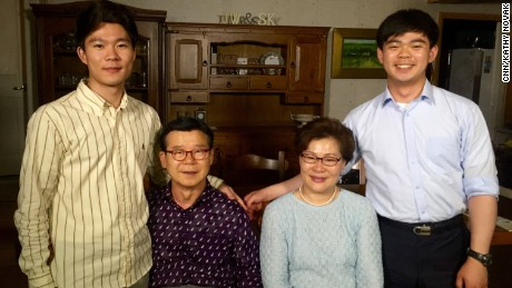 The Yang family's sons refuse to report for compulsory military service because of their religious beliefs. Yang Won-wuk (left) served more than a year in prison. Yang Won-suk (right) is appealing his sentence.