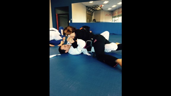 The sport involves grappling, as opposed to striking one
