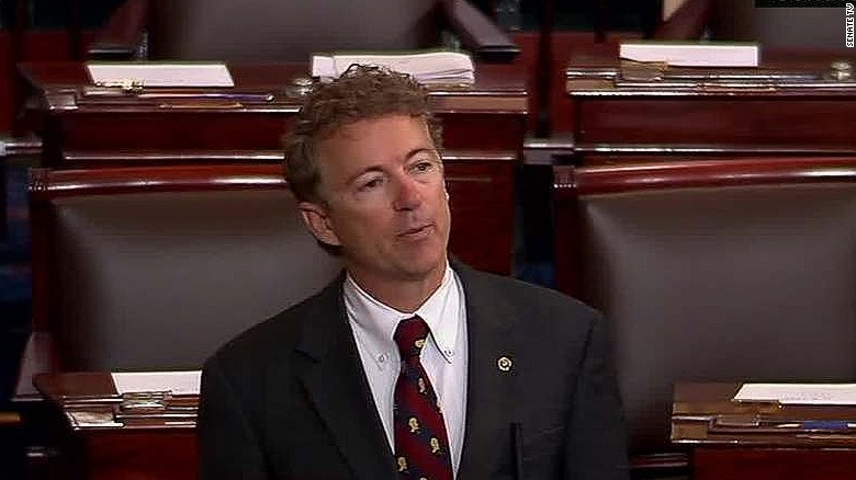 newday rand paul ends patriot act  'filibuster' _00010512