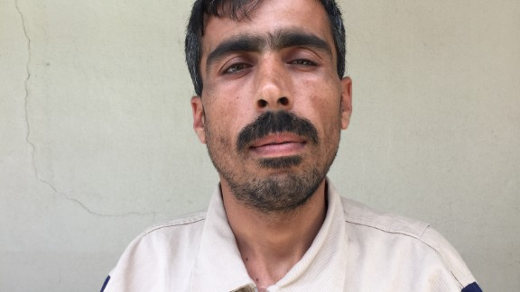 "Abdul Kader Suleyman, 32. Farmer. ""A month ago in Darkoush, the regime aircraft hit with two thermobaric missiles. We were able to save a 7-month-old girl, but her mother and father died. We were able to place her with her uncle."""