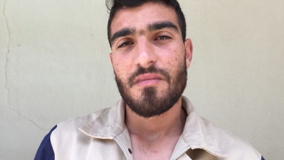 """Mohammad Danawer, 24. Was in his third year studying math at university. """"The regime bombed a refugee camp. We saved so many people, but I mostly remember an old lady, who had an injured leg. It bothered me, because you should be safe at a refugee camp."""""""