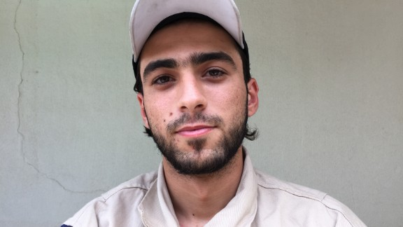 """Mahmoud Staify, 20. Was about to start high school. """"Idlib was being heavily bombed when it got out from under regime control. We arrived at the end of a tunnel that was so small you could only move the dust with your hands. We found a 60-year-old man alive in the basement, and spent 6 hours getting him out."""""""