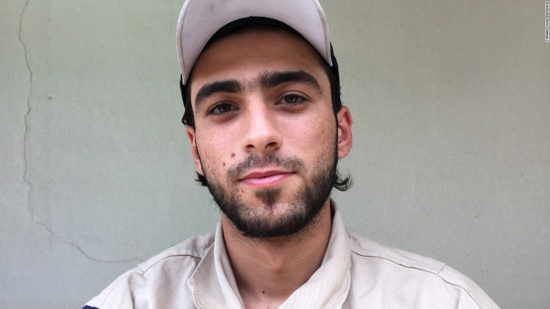 "Mahmoud Staify, 20. Was about to start high school. ""Idlib was being heavily bombed when it got out from under regime control. We arrived at the end of a tunnel that was so small you could only move the dust with your hands. We found a 60-year-old man alive in the basement, and spent 6 hours getting him out."""