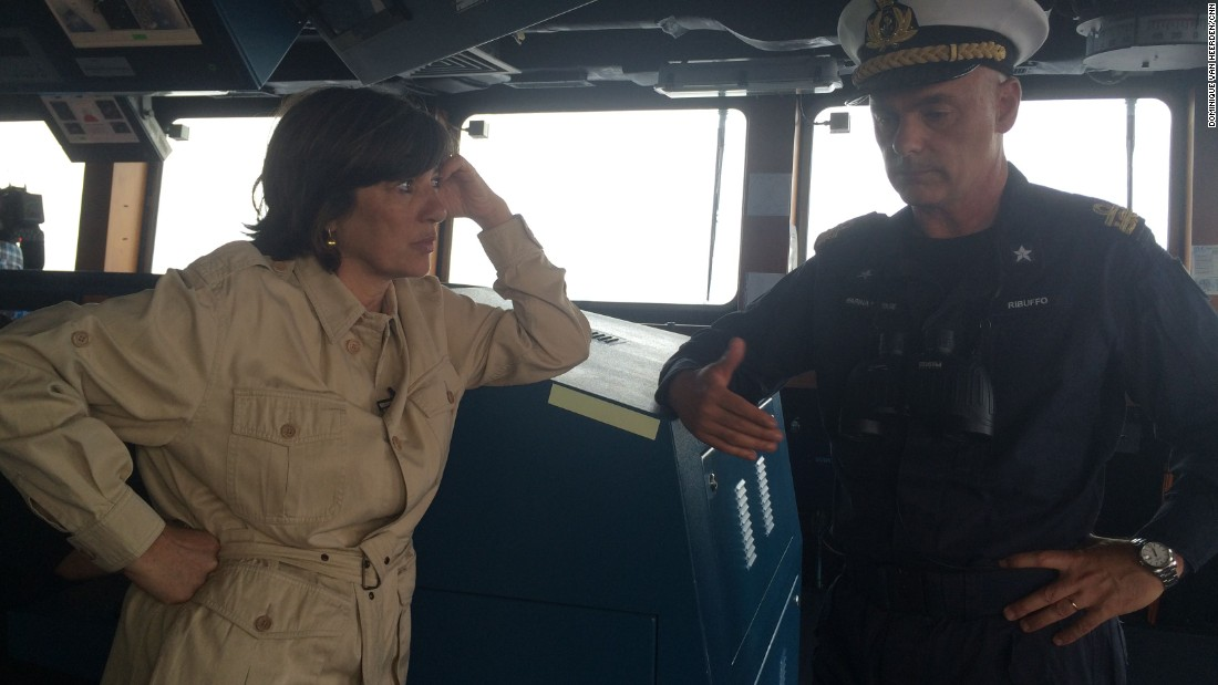 Amanpour speaks with Rear Admiral Pierpaolo Ribuffo, Deputy Commander of Italian Navy and commander in charge of the Taskforce Operation Mare Sicuro, onboard the Italian frigate Virginio Fasan.