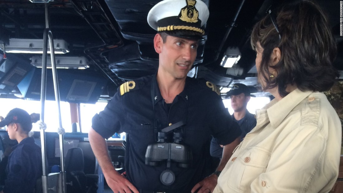 Amanpour speaks with Marco Bagni, commanding officer of the Italian frigate Virginio Fasan.