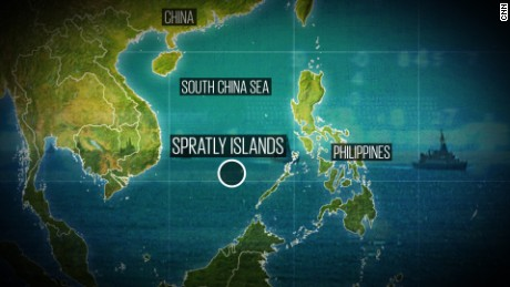 A depiction of where exactly China is building islands out of nothing, 600 miles off the coast of its mainland.
