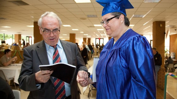 German theologian Jurgen Moltmann attended death row inmate Kelly Gissendaner's graduation ceremony.