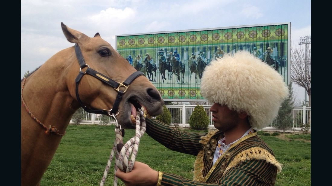 In 2011, Berdimuhamedov ordered an annual horse beauty contest, which is solely for the Akhal-Teke breed -- featured in the national emblem -- to compete in.