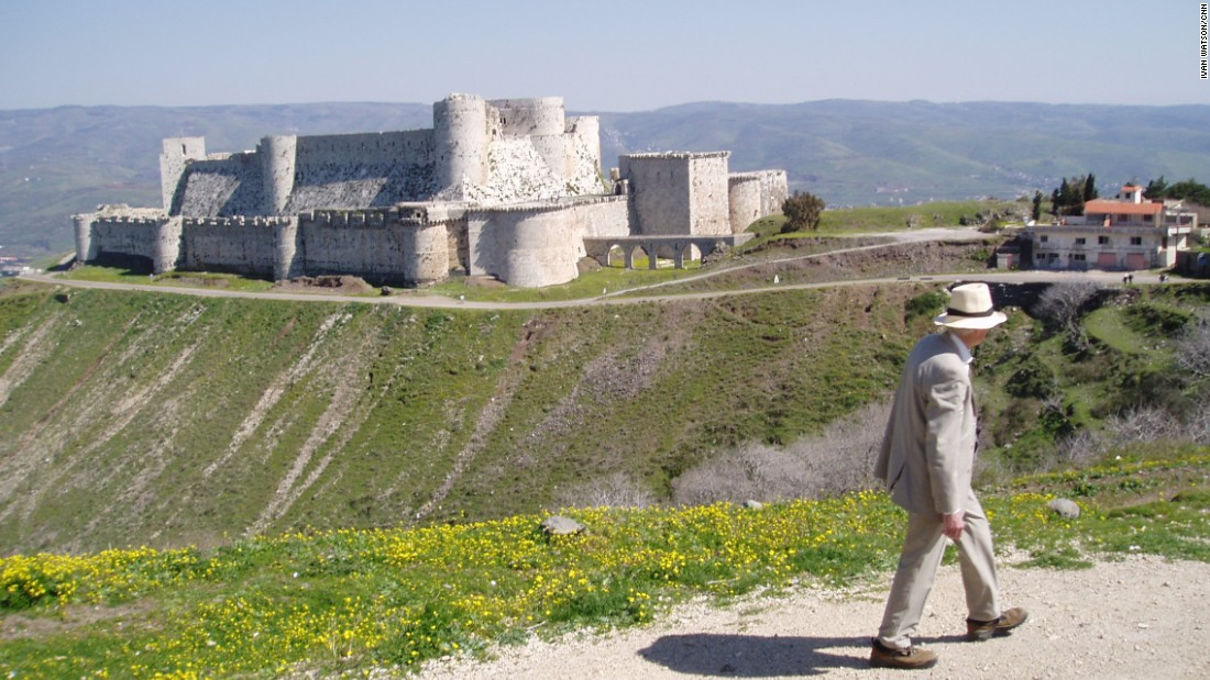 The Crac des Chevaliers, a Crusader castle in Syria, was well-preserved when Watson visited in 2007. But fighting between rebels and Syrian regime forces has since damaged this historical site.
