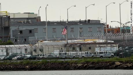 Caption:NEW YORK, NY - MAY 17: A view of the Rikers Island prison complex where Dominique Strauss-Kahn, head of the International Monetary Fund (IMF), is being held while awaiting another bail hearing on May 17, 2011 in New York City. Strauss-Kahn was arrested on May 14 on sexual assault charges stemming for an incident with a maid at a Manhattan hotel. Strauss-Kahn was expected to announce a presidential bid for France in the coming weeks. Strauss-Kahn was transferred to Rikers on Monday after a Manhattan Criminal Court judge refused to grant him bail. (Photo by Spencer Platt/Getty Images)