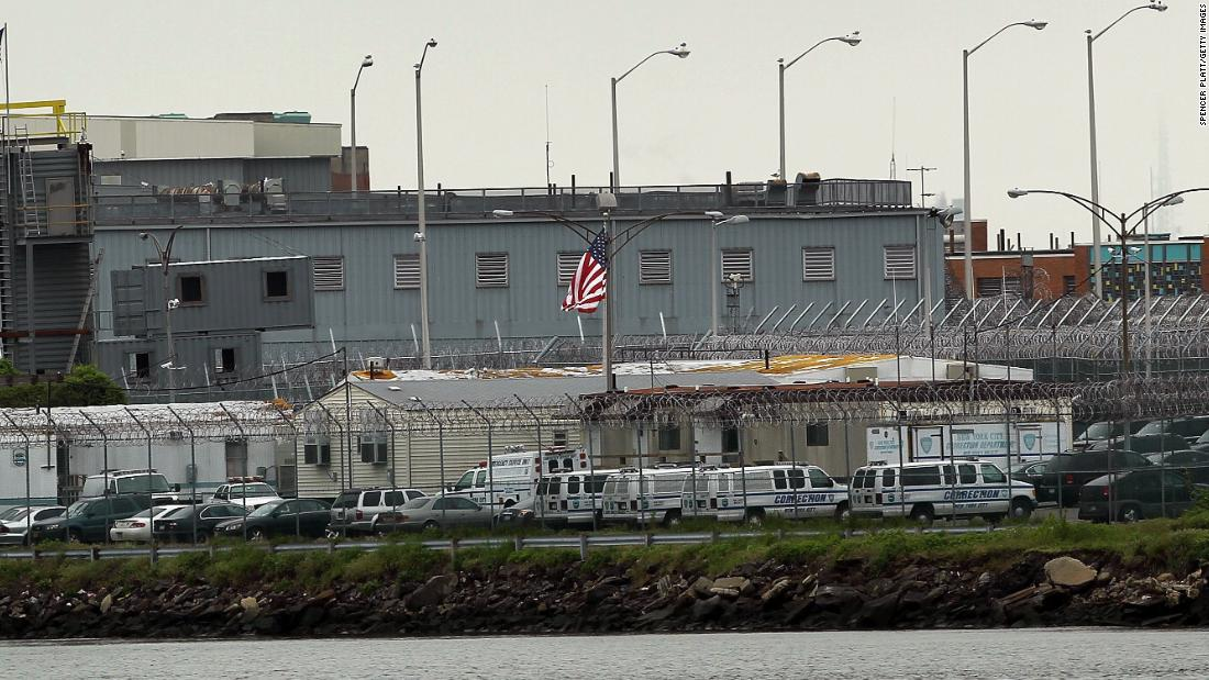 The Rikers Island prison complex houses jails in New York City.