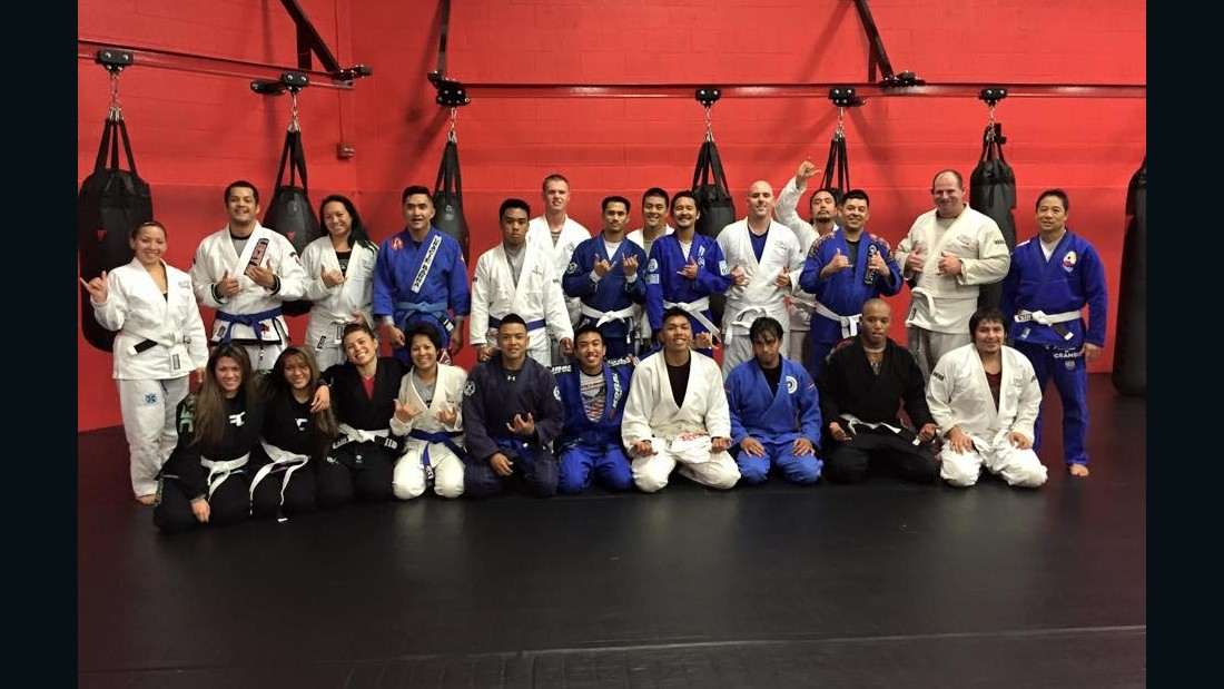 Anthony's jiujitsu class in Waipahu, Hawaii.
