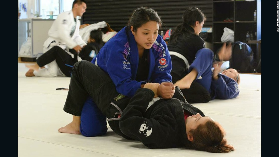 More woman have joined Anthony's jiujitsu class since she started.