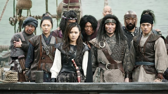 """""""The Pirates"""" (2014): A band of pirates and a group of bandits fight to recover a royal stamp in this Korean adventure film. (Hulu)"""